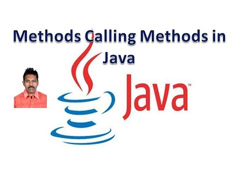 Methods Calling Methods in Java