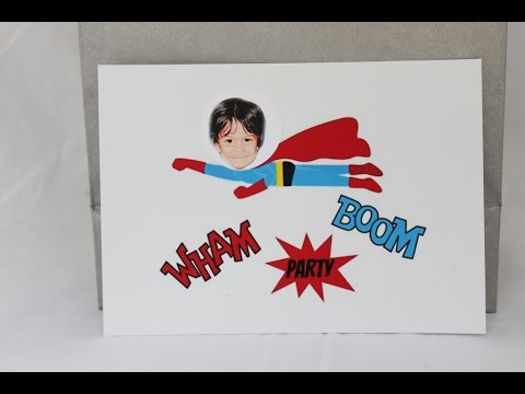 Make Custom Super Hero Party Invitations and Favors