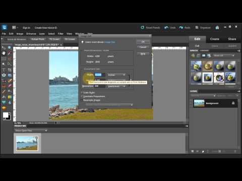 Resize an image for Web or Print in Photoshop Elements 10