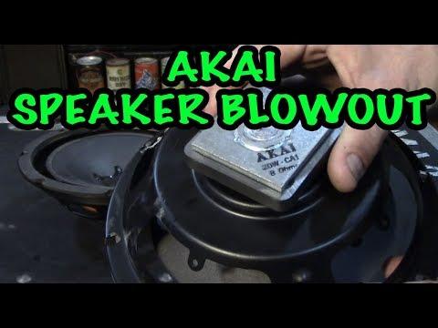 Akai CA1 Woofer Blow